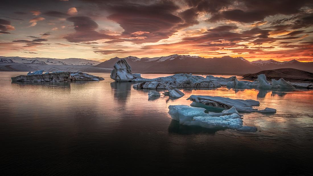 Burning Ice lagoon