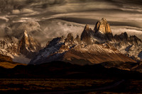 Lines of shaddows over the Fitz Roy