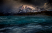 Stormy winds over the Torres del paine